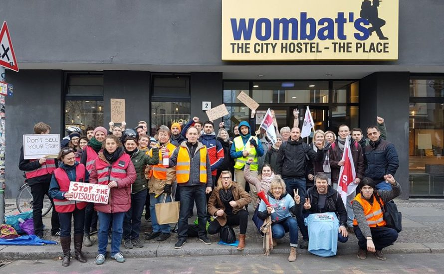 Kundgebung gegen Outsourcing bei Wombat's Berlin am Dienstag, 19. März: