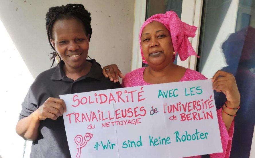Solidarität von Reinigerinnen für Reinigerinnen: