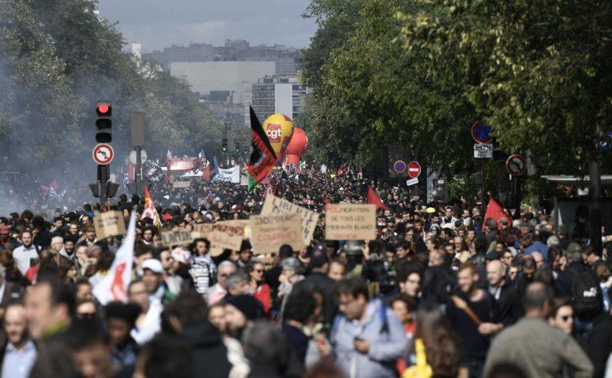 Hunderttausende bei Streiks und Demonstrationen in ganz Frankreich  [mit Bildern und Videos]