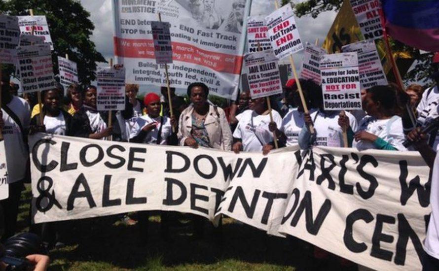 Protest in Großbritannien gegen Abschiebegefängnis