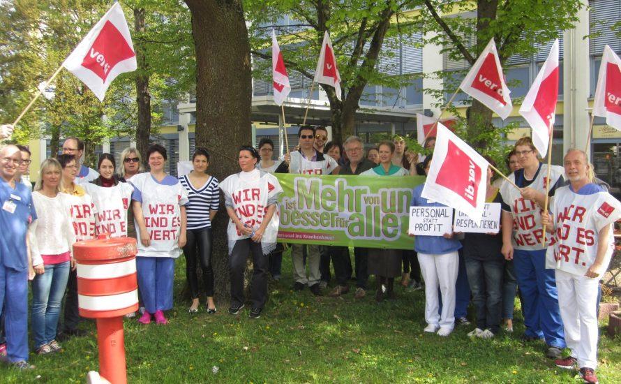 Vivantes-Vertrauensleute solidarisieren sich mit Kolleg*innen in Dachauer Klinikum