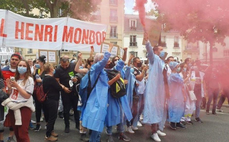 Arbeiter*innen im Gesundheitssektor im Streik in Frankreich – Tränengasangriffe von der Polizei