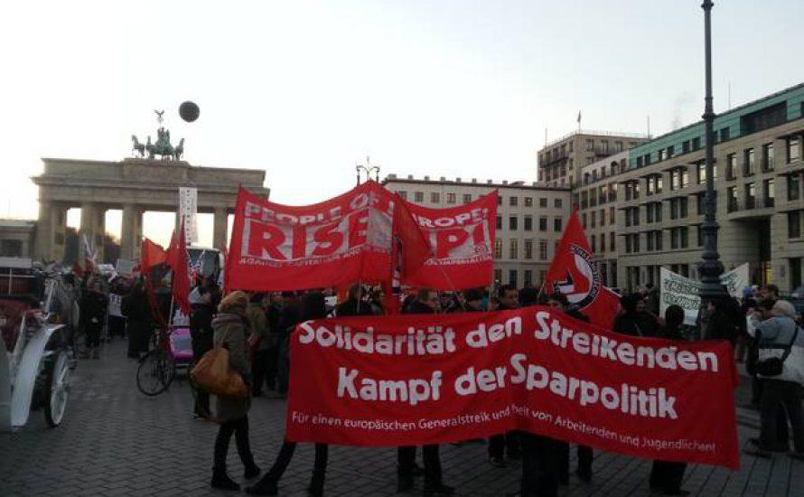 Berlin: Solidarität mit den Generalstreiks in Südeuropa