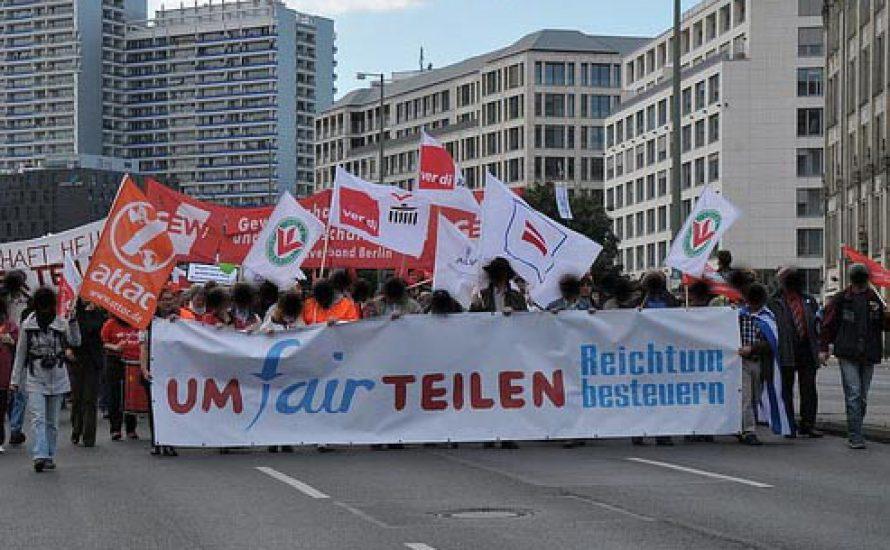 umFAIRteilen-Demonstration in Berlin