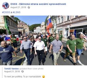 """Tomas Vandas (der DSSS-Chef): """"Das ist nicht nur die Politik, sondern auch die Freundschaft"""""""
