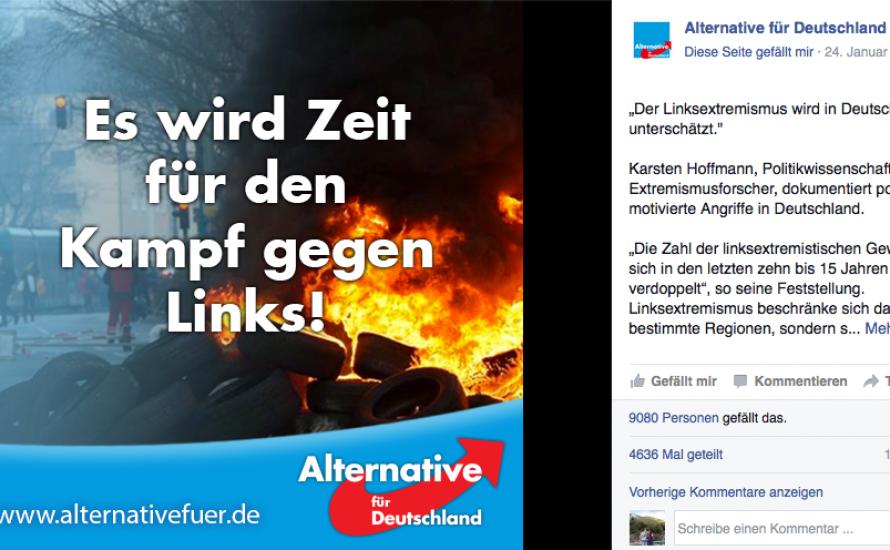 Die AfD bläst zum Bürger*innenkrieg gegen die Linken!