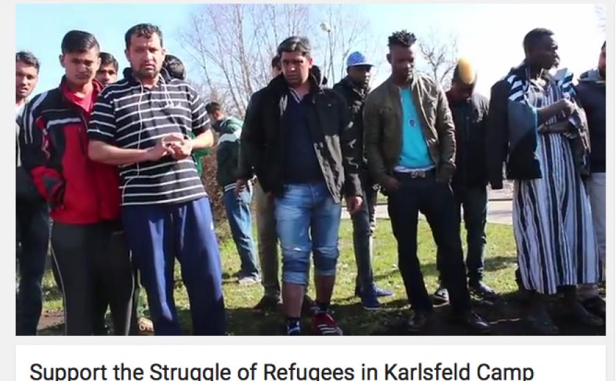 Jugend gegen Rassismus München solidarisch mit kämpferischen Geflüchteten