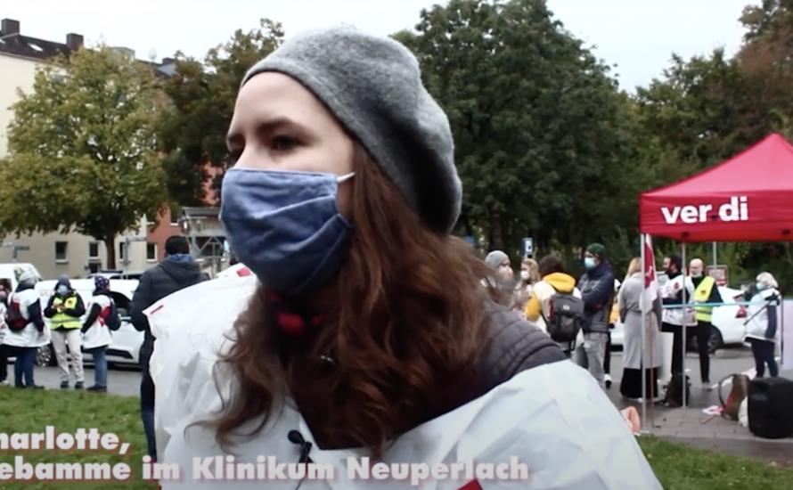 [Video] Interviews und Bericht vom Streik im Krankenhaus in München