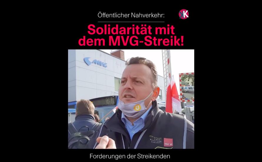 [Video] Solidarität mit dem MVG-Streik!
