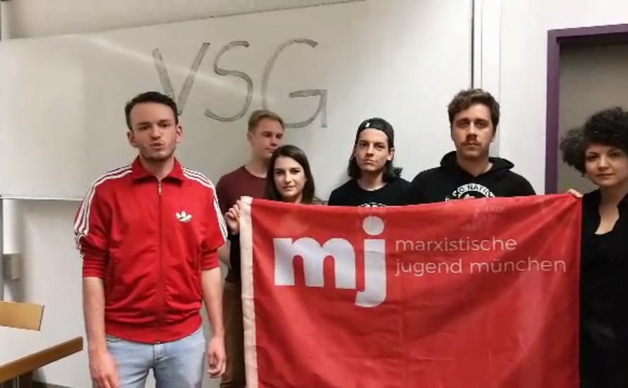 [Video] Solidarität aus München mit dem VSG-Streik!