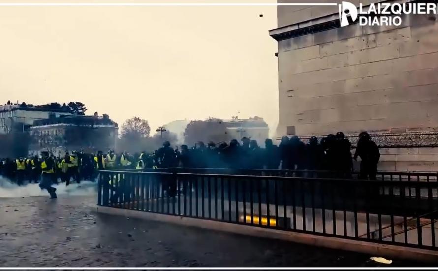 [Video] Paris brennt: Gelbe Westen, Jugendliche und Arbeiter*innen auf der Straße gegen Macron