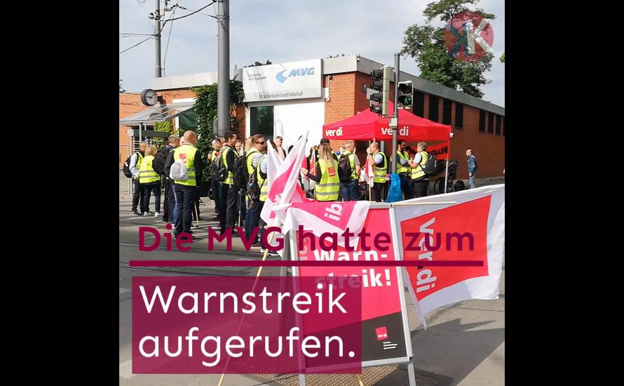 [Video] München: Warnstreik bei der MVG