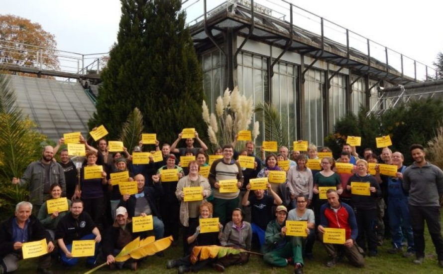 Botanischer Garten: FU verstößt mal wieder gegen Vereinbarungen!