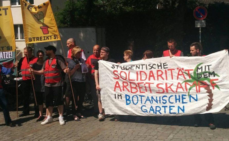 Beschäftigte des Botanischen Gartens stören Vorlesungen an der FU Berlin