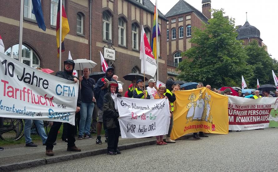 Müller und Kollatz-Ahnen verstecken sich vor Streikenden