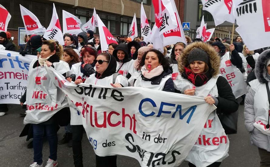 CFM: Nein zu Kündigungen, Nein zur Schlichtung. Den Streik verteidigen, Geheimhaltung beenden, für TVöD für alle weiterstreiken!