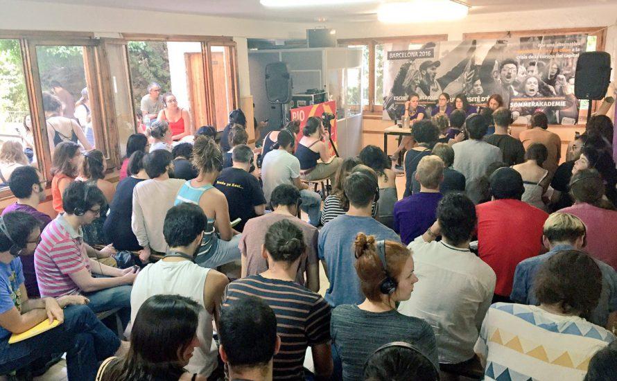 Mehr als 200 Menschen bei der Revolutionären Internationalistischen Sommerakademie in Barcelona
