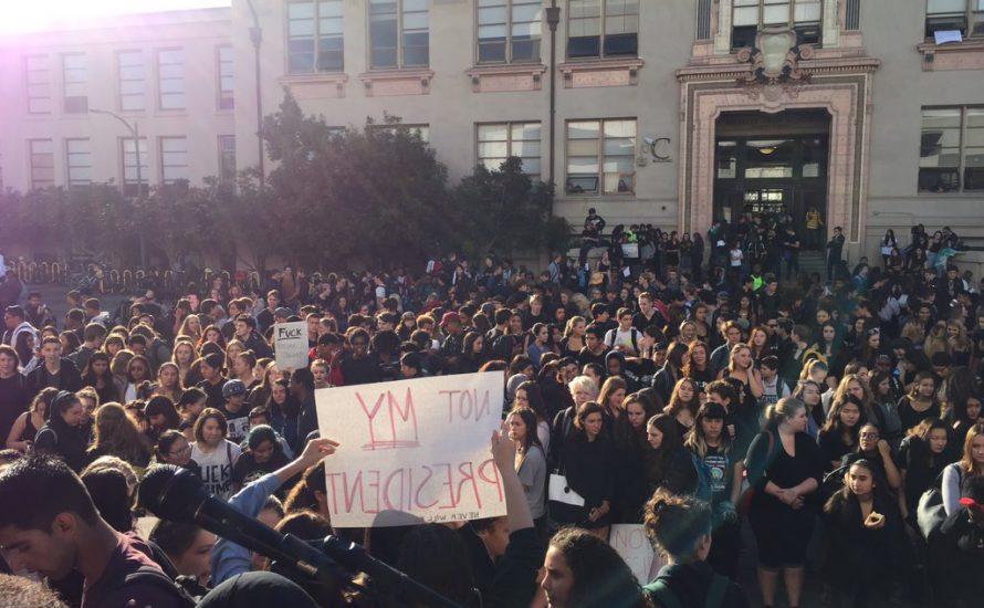Der Widerstand gegen Trump formiert sich – Schüler*innen an vorderster Front