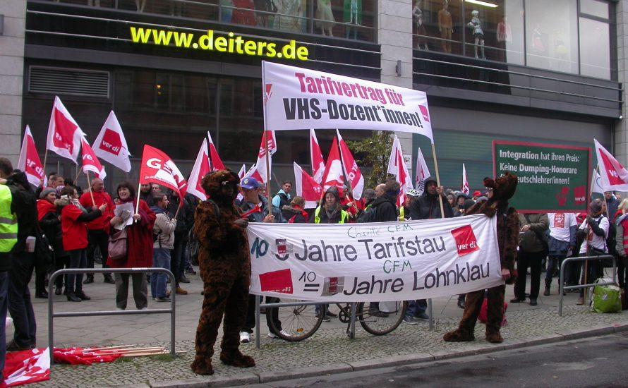 [Fotogalerie] Arbeiter*innen stören rot-rot-grüne Koalitionsverhandlungen