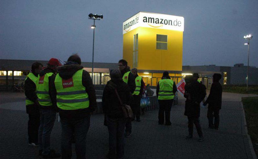 Streiks bei Amazon in Bad Hersfeld