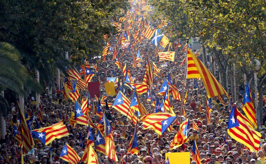 Radikale Kampagne für das Recht auf Selbstbestimmung in Katalonien