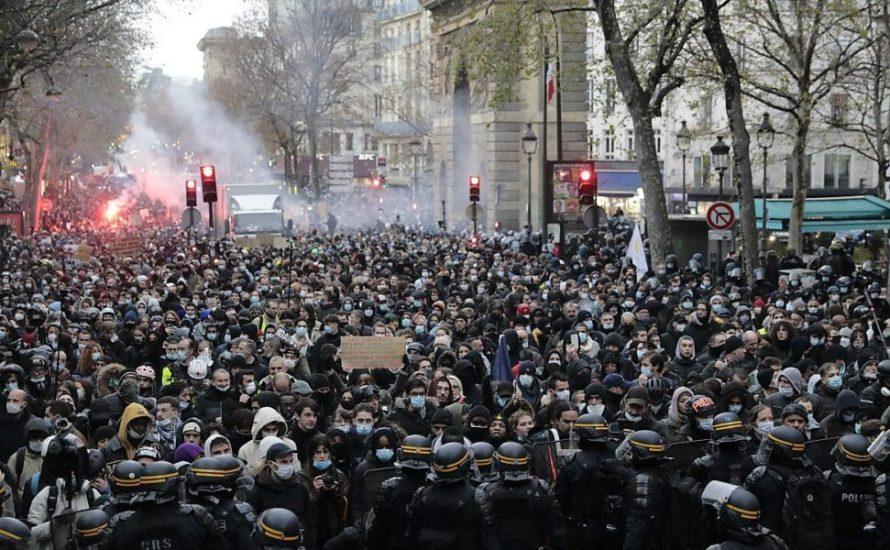 Frankreich: Zehntausende  demonstrieren gegen rassistische Sicherheits- und Anti-Muslimische-Gesetze