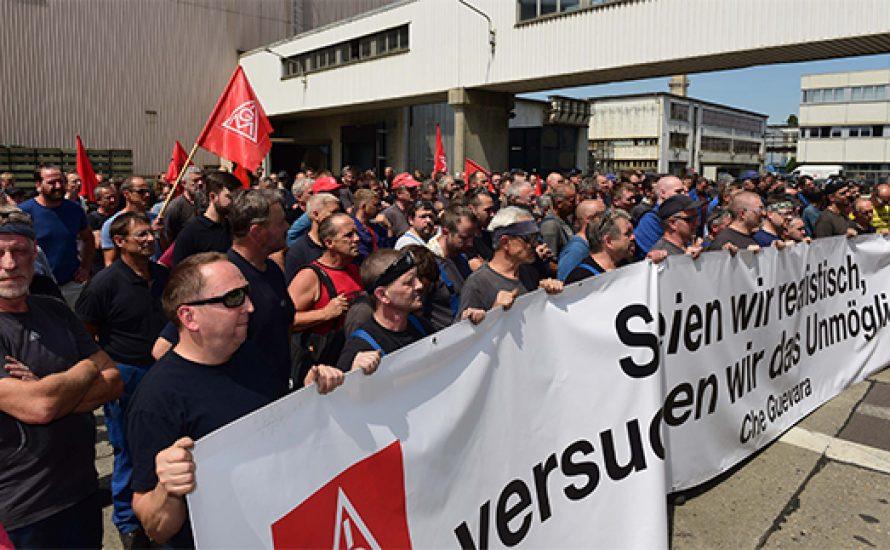 Kolleg*innen der VSG solidarisieren sich mit den Streiks bei Halberg Guss