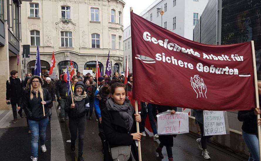 Hebammen-Demo in München:
