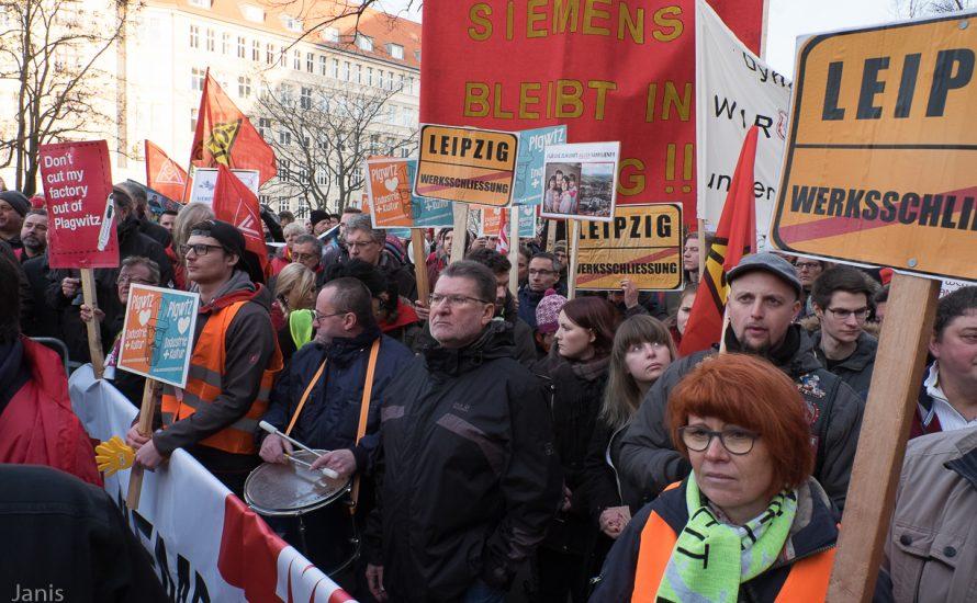 [Fotogalerie] 2.500 Siemens-Beschäftigte kämpfen in Berlin gegen Kündigungen