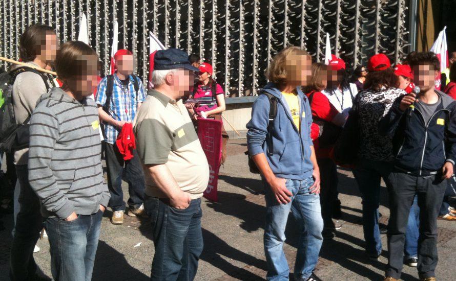 Zweite Solidelegation beim CFM-Streik