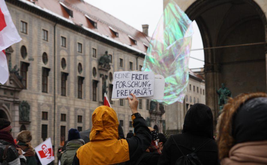 250 bei Demo gegen Hochschulreform in München