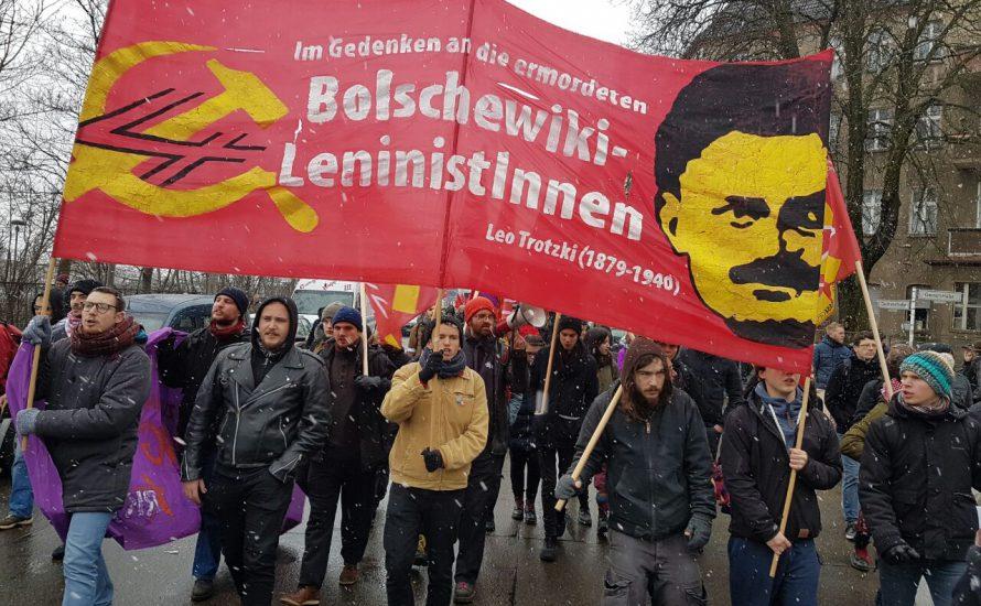 [Fotoreportage] Tausende gedenken Luxemburg, Liebknecht, Lenin und Leo Trotzki