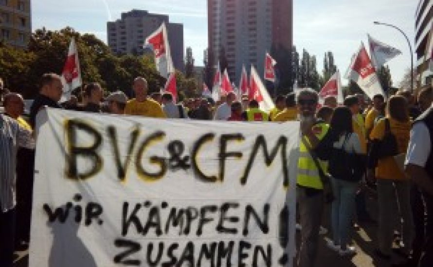 Solidarität aus der BVG mit dem Streik der CFM [mit Video]
