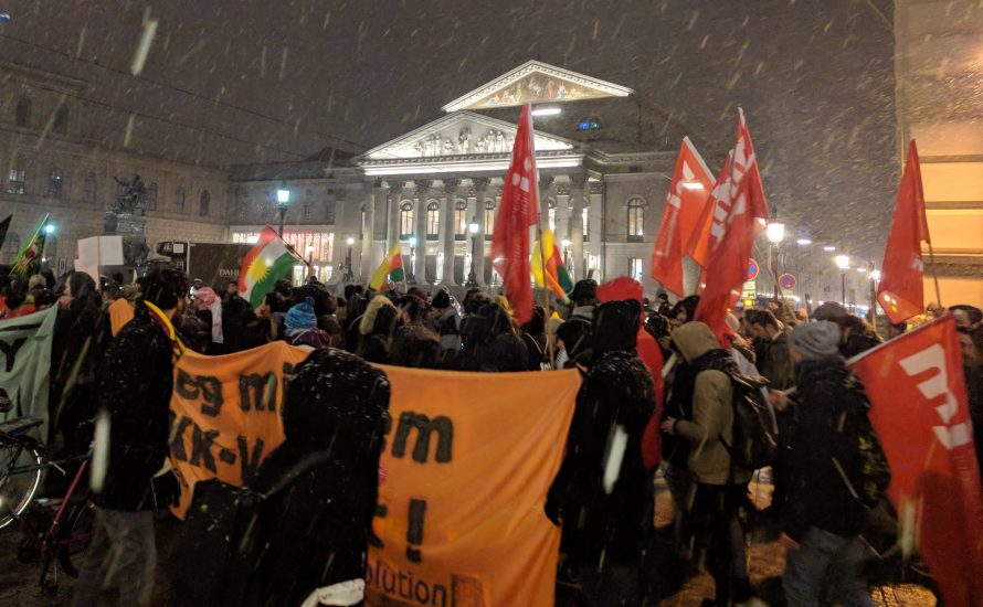 Afrin-Demo in München: