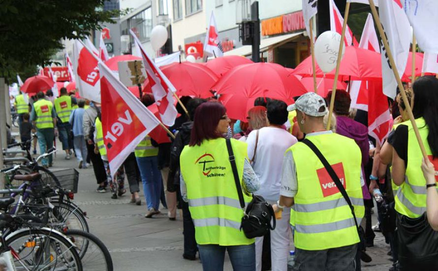 Berlin: Streiks im Einzelhandel