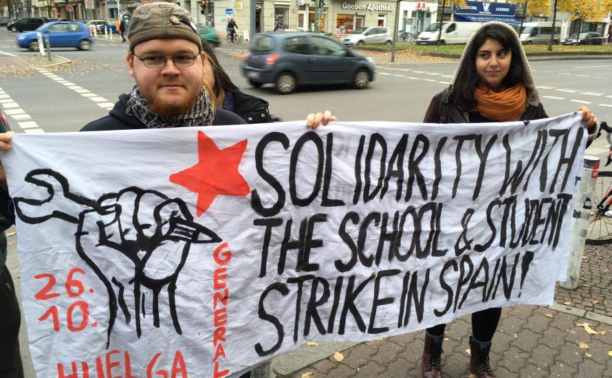 Berliner Solidarität mit dem Bildungsstreik im Spanischen Staat