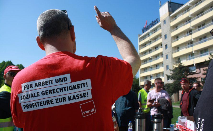 VSG-Streik in Kaulsdorf: Klinikleitung droht mit der Polizei