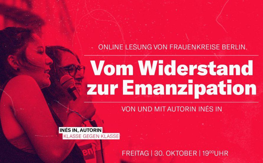 """""""Vom Widerstand zur Emanzipation"""" – Online Lesung von und mit Autorin Inés In   Frauenkreise Berlin"""