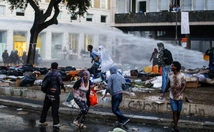 Rom: Geflüchtete werden brutal geräumt