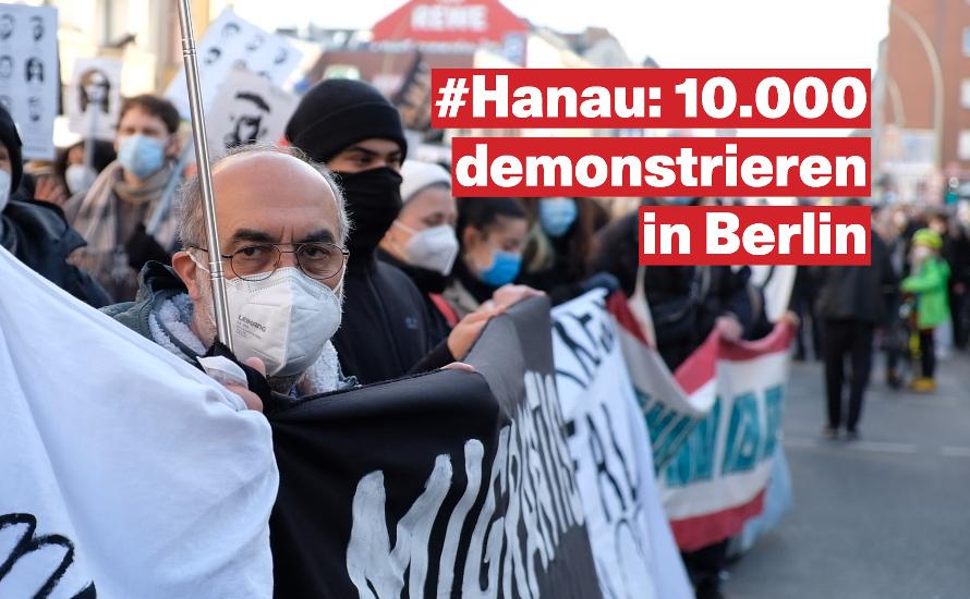 [Videos] Proteste ein Jahr nach dem Terroranschlag in Hanau
