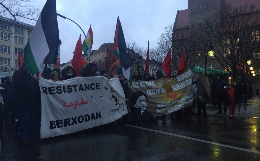 Berlin: Hunderte solidarisieren sich mit Palästina und Kurdistan!