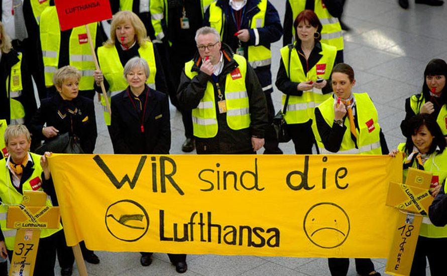 Gemeinsamer Streik gegen unnachgiebige Lufthansa!