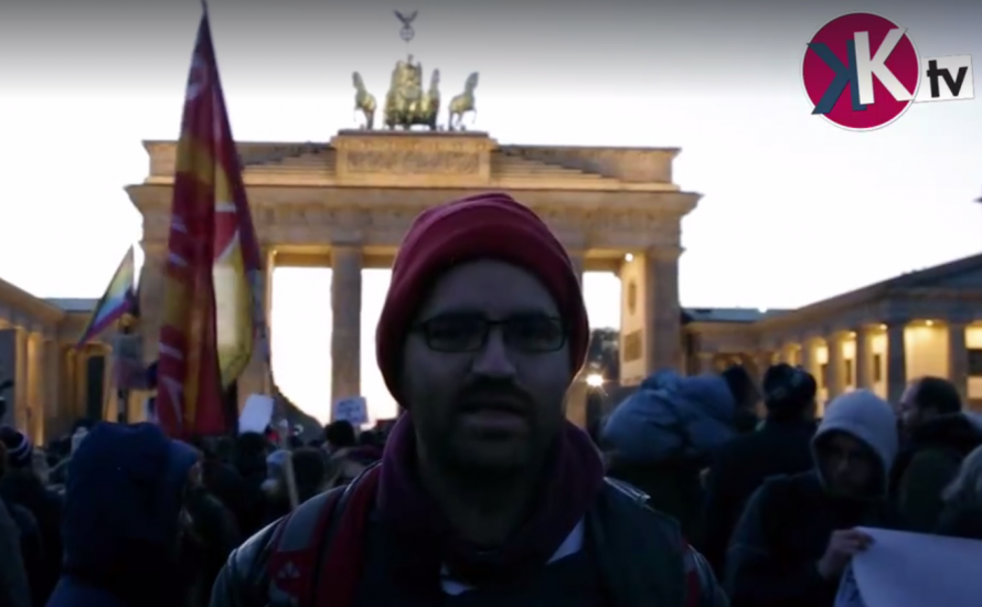 Anti-Trump-Protest in Berlin [Video]