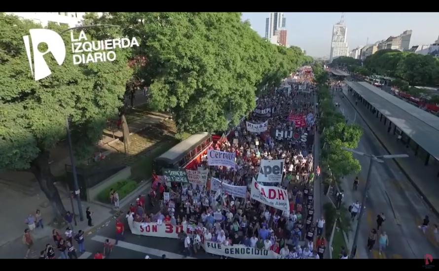 [Video] Massive Mobilisierung in Argentinien zum 41. Jahrestag des Militärputsches