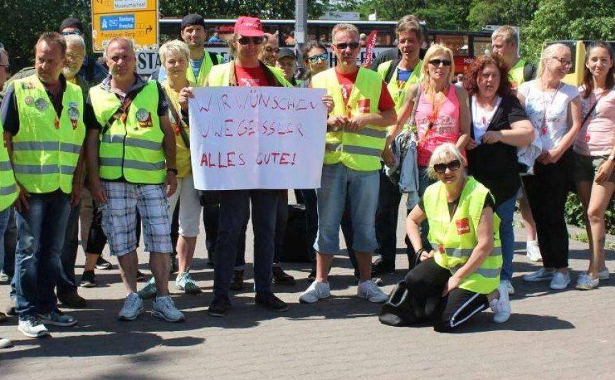Streikende der VSG solidarisieren sich mit Patienten