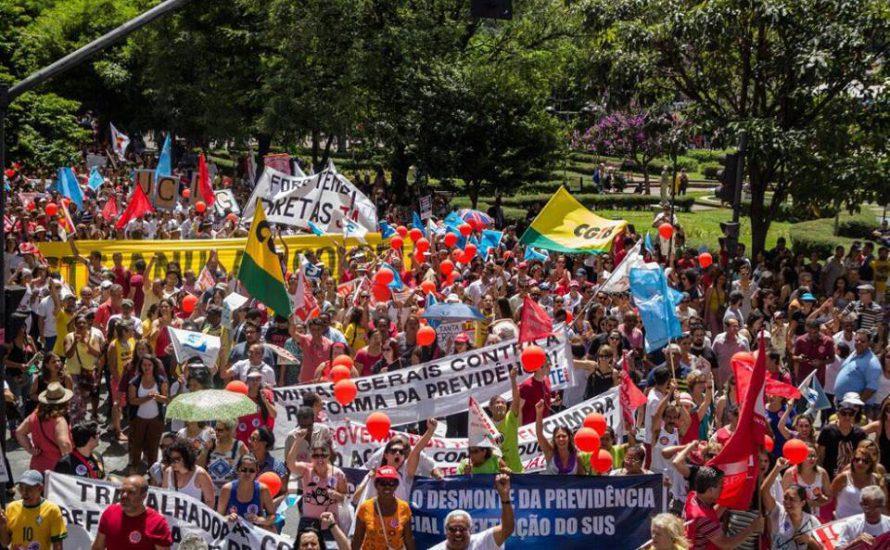 Generalstreik in Brasilien: Gewerkschaften rufen zur größten Protestaktion gegen die Regierung auf