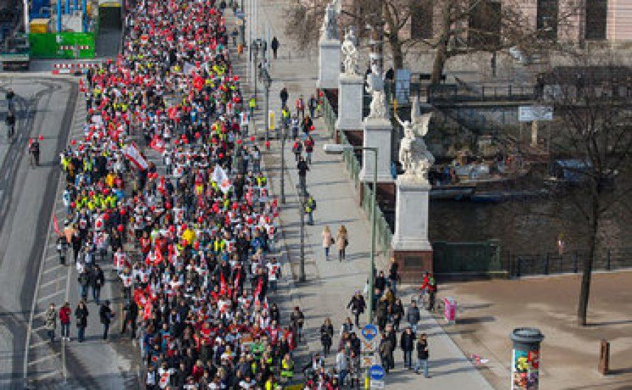 Berlin: Warnstreik der Landesbeschäftigten