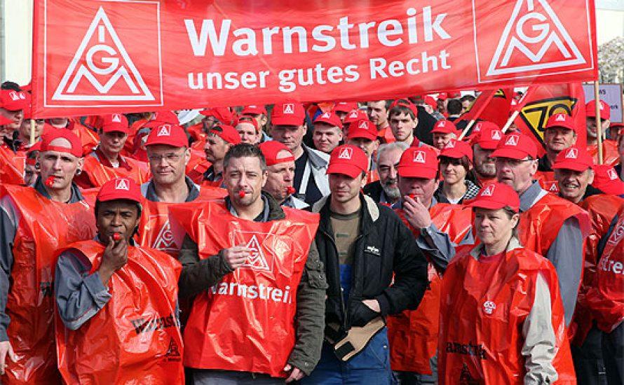 Streiks bei der IG Metall