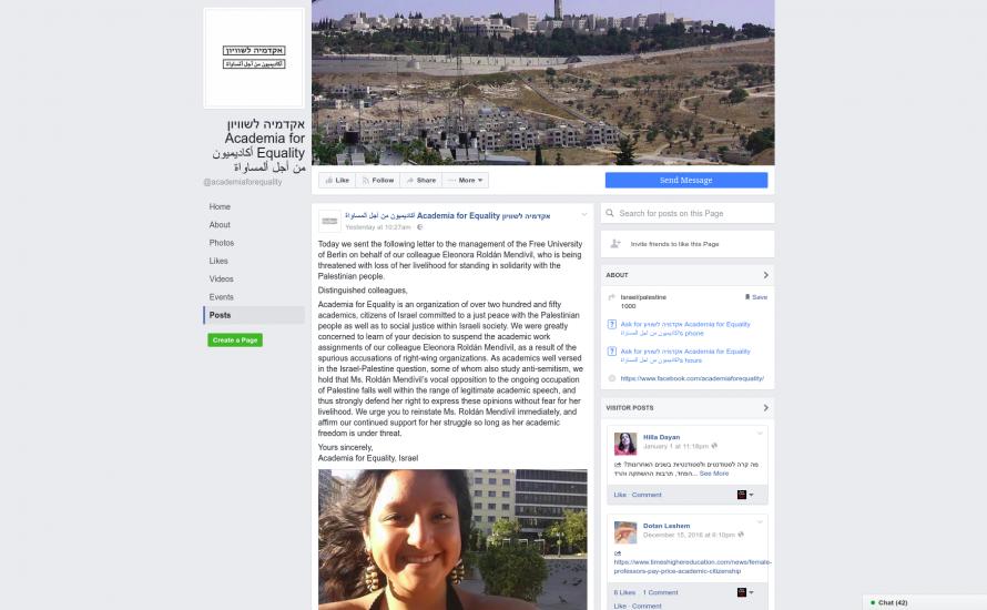 Über 250 israelische Wissenschaftler*innen protestieren gegen Suspendierung von Eleonora
