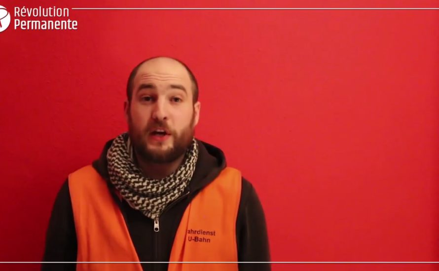 [Video] Solidarität von der Berliner U-Bahn an die Streikenden in Frankreich